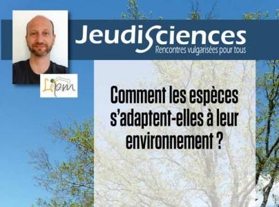 F. ROUX : Comment les espèces s'adaptent-elles à leur environnement ?
