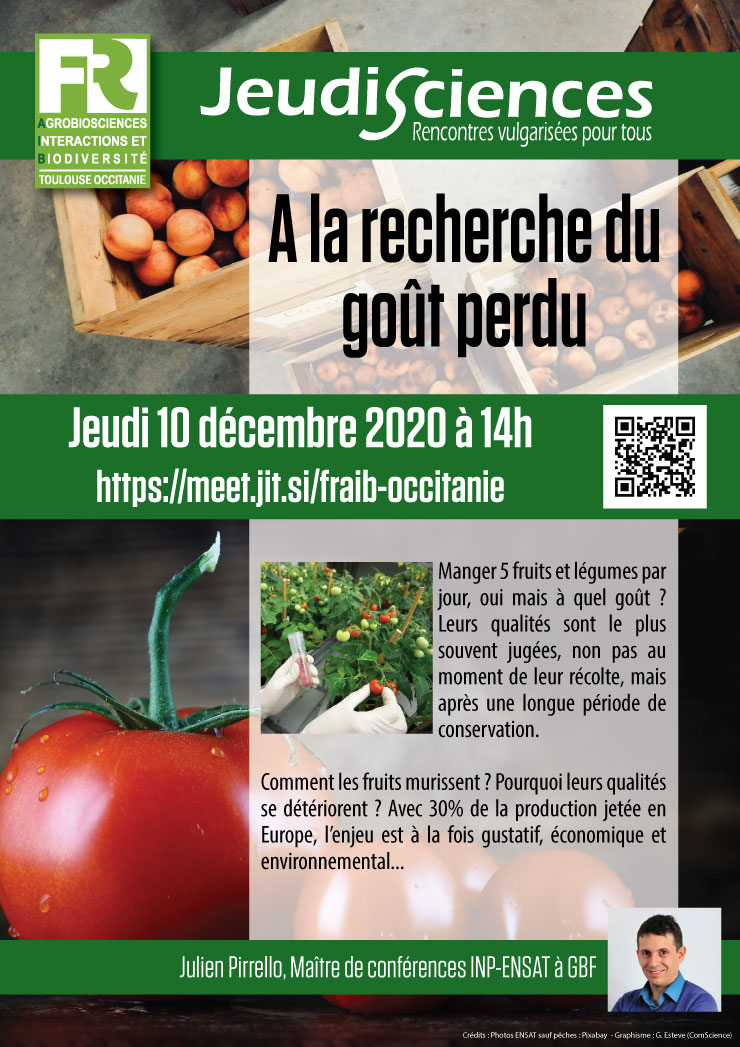 Jeudi Sciences - Julien Pirrello
